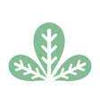 botany leaves to ecology care symbol vector image vector image