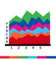 business data graph icon vector image vector image