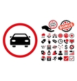 Car Flat Icon with Bonus vector image vector image