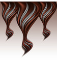 chocolate and milk wave splash abstract vector image vector image