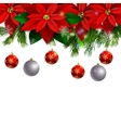 Christmas decoration evergreen trees vector image vector image