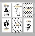 christmas hand drawn printable cards vector image vector image