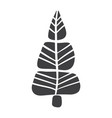 christmas tree icon silhouette simple vector image vector image