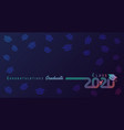 class 2020 colored lines design vector image vector image
