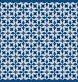 classic blue moorish seamless ornament vector image vector image
