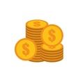 coins stack money golden vector image