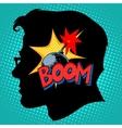Creativity bomb in my head vector image vector image