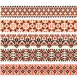 cross-stitch ethnic Ukraine pattern vector image vector image