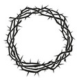 crown thorns easter religious symbol of vector image