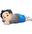 cute little boy sleeping vector image