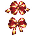 Decorative Red Bow vector image vector image