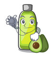 doctor bag avocado oil shape of mascot vector image vector image
