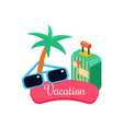 exotic vacation vector image