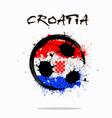flag of croatia as an abstract soccer ball vector image vector image