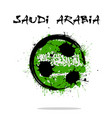 flag of saudi arabia as an abstract soccer ball vector image