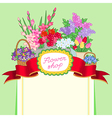 flower shop green price vector image vector image