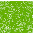 fruits seamless vector image vector image
