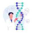genetic research science a scientist vector image