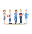 group of medical doctors vector image vector image