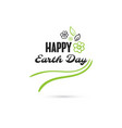 happy earth day flowers vector image vector image