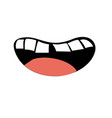 human mouth with teeth and tongue vector image vector image