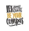 inspirational quote lettering let your vector image vector image