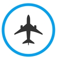 Jet Plane Rounded Icon vector image vector image