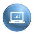 laptop icon simple style vector image vector image