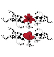 lily hearts and ivy vector image vector image