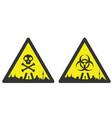 madrid danger emergency biological hazard signs vector image vector image