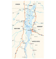 map north american lake champlain vector image vector image