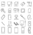 mobile service icons vector image vector image