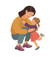 mom and daughter family portrait lovely mother vector image vector image