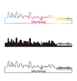 Montreal skyline linear style with rainbow vector image vector image