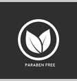 paraben free icon vector image