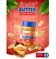 peanut butter poster ad vector image