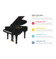 piano infographic template with 4 points of free vector image vector image