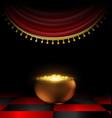 pot of gold in the dark vector image