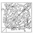 renaissance square panel is an wood inlaying vector image vector image