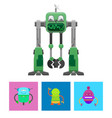 robots collection with faces vector image vector image