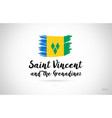 saint vincent and the grenadines country flag vector image