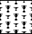 seamless awards pattern winner cups on white vector image