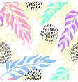 seamless background with exotic vector image vector image