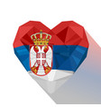 serbian heart flag the republic of serbia vector image