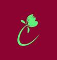 simple flower logo vector image