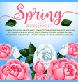 spring season flowers greeting card design vector image