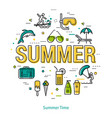 summertime - linear concept vector image vector image