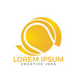 tennis sport logo design template vector image vector image