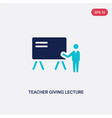 two color teacher giving lecture icon from vector image vector image
