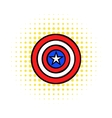 USA star icon in comics style vector image vector image
